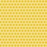 与许多的背景无缝的样式重复传统化了黄色花 库存照片