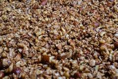 与许多的自创格兰诺拉麦片坚果 免版税库存图片