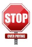 与词中止的标志在支付 免版税图库摄影