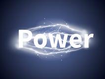 与词力量的现实闪电 向量例证