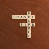 与词有用的旅行技巧的纵横填字游戏 世界旅行co 库存照片