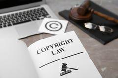 与词版权法的书, 免版税库存照片