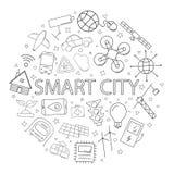 与词的传染媒介聪明的城市样式 向量例证