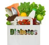与词糖尿病的纸袋 免版税库存照片