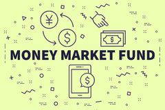 与词金融市场乐趣的概念性企业例证 皇族释放例证