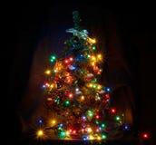 与诗歌选的圣诞树 免版税库存图片