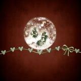 与诞生场面的玻璃雪球 免版税库存图片