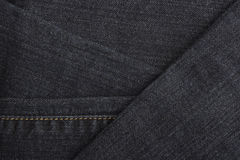 与详细资料的蓝色牛仔布牛仔裤纹理 图库摄影