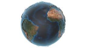 与详细的地形的生气蓬勃的地球 库存例证
