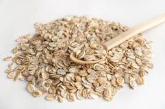 与谷物关闭的耳朵的燕麦 免版税图库摄影