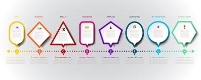 与象和8个选择的现代设计infographics 免版税库存图片