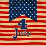 与象征7月的4日星的美国国旗背景indepen 免版税库存图片