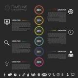 与象的平的五颜六色的抽象时间安排infographics传染媒介 免版税库存照片