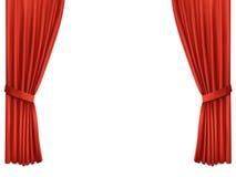 与豪华猩红色红色丝绸的背景 图库摄影