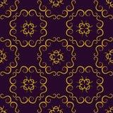 与豪华阿拉伯装饰品的无缝的纹理 传染媒介葡萄酒样式 向量例证