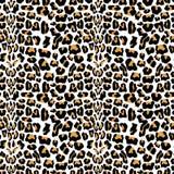 与豹子毛皮纹理的传染媒介无缝的样式 重复豹子纺织品设计的毛皮背景,包装纸,贴墙纸o 向量例证