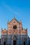 与负空间的大教堂二Santa Croce 免版税库存图片