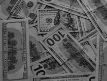 与货币的背景 库存图片