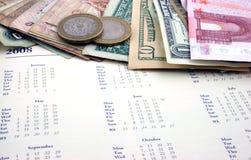 与货币的节假日 免版税库存图片