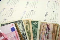与货币的节假日 免版税库存照片