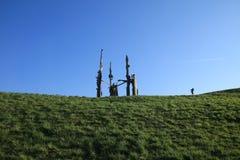 与赛跑者的雕塑 库存图片