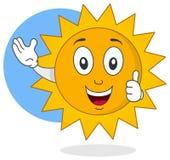愉快的夏天太阳字符 库存图片