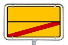 与赠送阅本空间的黄色空的德国城市标志 免版税图库摄影