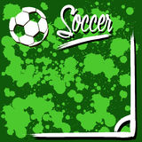 与足球的背景 免版税图库摄影
