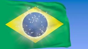 与足球的巴西旗子 股票录像