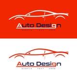 与跑车的商标设计 库存图片
