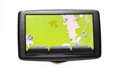与路线图的GPS导航员 免版税库存图片