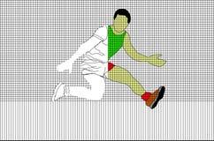 与跳跃的人的滤网样式 免版税图库摄影
