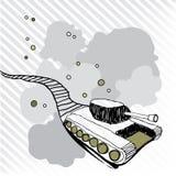 与踪影的玩具坦克 向量例证