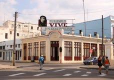 与车公的古巴标志 库存照片