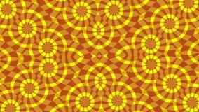 与转动圆红色黄色元素,圈的背景 皇族释放例证