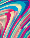 与转动条纹的艺术性的背景 上色模式可能的变形多种向量 CMYK col 免版税库存照片