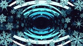 与转动的雪花的镜子抽象 循环 库存例证
