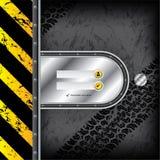 与轮胎轨道的工业注册接口 免版税图库摄影