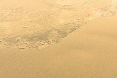 与软的波浪的沙子海滩 自然 免版税库存照片