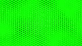 与软的海的美好的绿色hexagrid背景挥动 皇族释放例证
