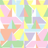 与软的淡色的无缝的几何背景 免版税库存图片