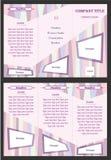 与软的颜色的抽象小册子设计模板 库存图片