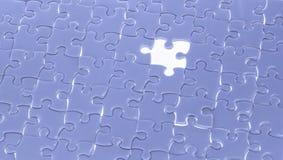 与轻的焕发,企业概念fo的缺掉七巧板片断 免版税库存图片