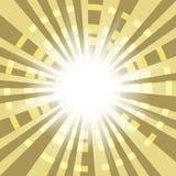 与辐形光芒的抽象背景 免版税库存照片