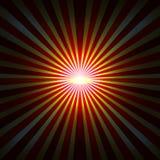 与辐形光芒的背景 库存例证