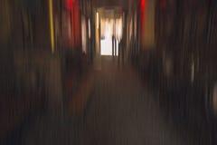 与辐形迷离的走廊神色 免版税库存照片