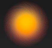 与辐形,圆线的艺术性的元素 放热, concent 皇族释放例证
