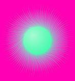 与辐形,圆线的艺术性的元素 放热, concent 库存例证