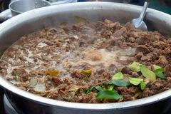 与辣母牛胆量的辣汤 免版税库存照片