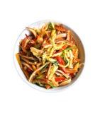与辣猪耳朵和菜的中国沙拉 库存照片
